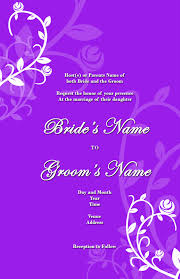 Muslim Marriage Invitation Card Matter In English Wedding Invitation Background Designs Purple Yaseen For