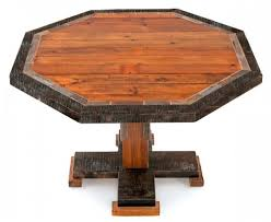 Barnwood Dining Table Rustic Dining Tables Reclaimed Barnwood - Octagon kitchen table
