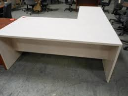 L Shaped White Desk Hoppers Office Furniture Used Executive L Shape Desk