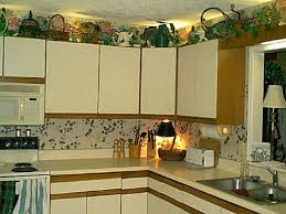 what do you put on top of kitchen cabinets kitchen new style kitchen ornaments for kitchen shelves what do