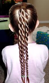 exciting girls u0027 ponytail with braided twist hairstyles