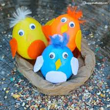 Easter Decorations With Plastic Eggs by Baby Bird Plastic Egg Shakers Craft For Kids Buggy And Buddy
