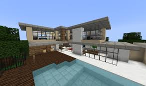 project house fancy modern house minecraft project