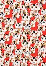 henry fabric lucky cat animal fuku indochine