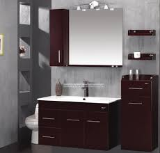 Freestanding Bathroom Furniture Bathroom Top Class Cherry Wood Finish Bathroom Furniture Set Plan
