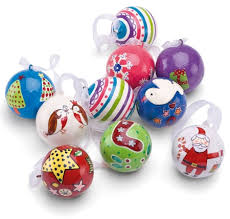 country crafts paint your own bauble decoration