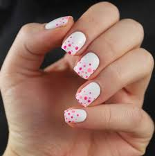 white and polka dot nails pictures photos and images for