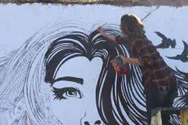 young artist sarah dupont gets chance of a lifetime to paint wall alton sarah dupont a young artist originally from brighton is hard at work on an opportunity of a lifetime to create a lasting mural on a wall of frew s