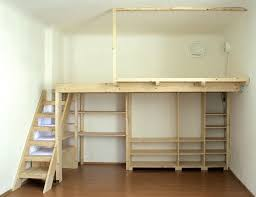 Building A Wood Desk by How To Build A Wooden Mezzanine Floor In A Bedroom Google Search