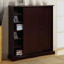 Cd And Dvd Storage Cabinet With Doors Oak Finish Dvd Storage Cabinet Cd U0026 Video Racks Ebay