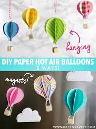 hot air balloon decorations diy paper hot air balloons kavett