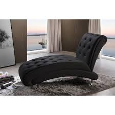 Black Chaise Lounge Black Button Tufted Chaise Lounge Rc Willey Furniture Store