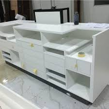 White Reception Desk Cashier Reception Desk Archives Super U Shop Fitting Co Ltd