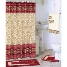Burgundy Bathroom Rugs 18 Bath Rug Set Shower Curtain Towels Zebra Leopard