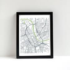 Nashville Tennessee Map by Nashville Tennessee Street Map Art Print Unique Decor Aerial