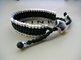 friendship bracelet links images Trap cut links of london friendship bracelet black and green jpg