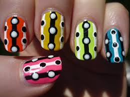 easy neon lines and dots nail art tutorial youtube