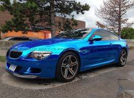 bmw m6 blue blue chrome bmw e63 m6 hails from canada autoevolution