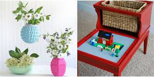 Room Craft Ideas - upcycled home projects repurposed diy ideas