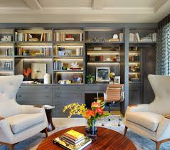 den lighting ideas family room contemporary with built in shelves