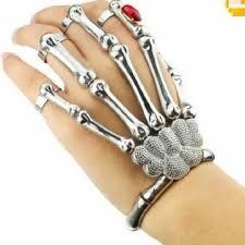 skull hand bracelet images Silver cool punk rock skeleton skull hand bone ring jpg