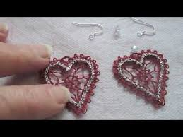 how to embroider lace fsl free standing lace earrings for