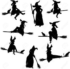 witch silhouette clipart witch silhouettes royalty free cliparts vectors and stock