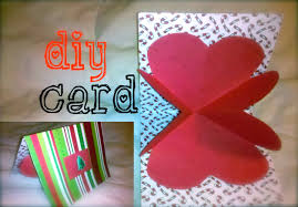 diy boyfriend heart love card 12 days of crafting youtube