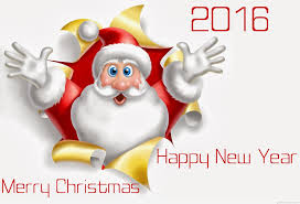 merry and happy new year 2016 santa claus messages