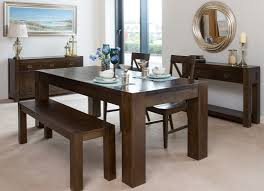 medium dark pine dining table and four chairs set montreal