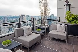 toronto gray wicker outdoor furniture balcony transitional with