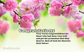 congratulations messages on promotion of to