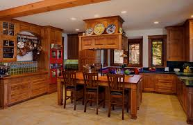 arts and crafts home interiors oversized u shaped wooden arts and crafts kitchen interior design