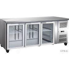glass door bar fridge perth f e d thermaster gn3100tng 3 glass door gastronorm bench fridge