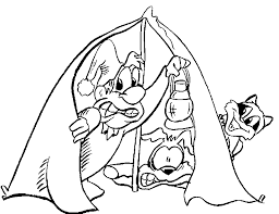 camping coloring pages coloring