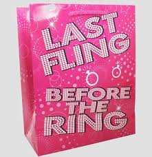 bachelorette gift bags last fling before the ring bachelorette party gift bag