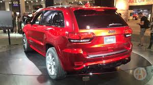 jeep trackhawk back 2018 jeep grand cherokee trackhawk new york auto show video