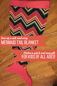 sew a mermaid tail blanket u2013 simple instructions for a quick diy