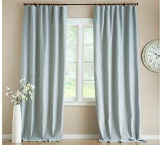 Pottery Barn Linen Curtains Solid Robin U0027s Egg Blue Drape Panel Light Blue Curtains Blue