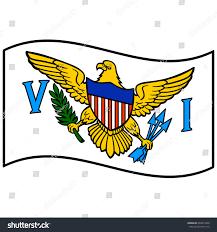Virgin Islands Flag Flag Us Virgin Islands Stock Vector 404273458 Shutterstock