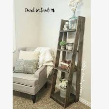 Bathroom Storage Ladder Tiered Ladder Shelf Ladder Shelf Bathroom Shelf Bookcase