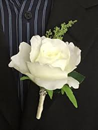 white boutonniere white silk boutonniere wedding ceremony