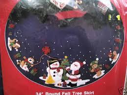 bucilla felt applique tree skirt kit santa and