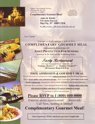 Invitation Card Format For Seminar Postcard Mailing For Financial Seminars