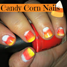 candy corn halloween nail art totally the bomb com
