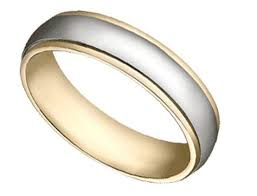 two tone wedding rings wedding bands two tone hammered wedding band in 14k