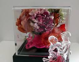 wedding flowers paperweight glass globe etsy