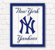 New York Yankees Home Decor by New York Yankees Logo 3d Pop Art Ny Baseball Print By Popsicart