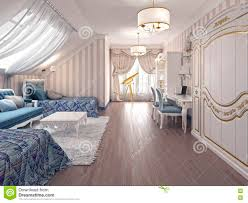 Bedroom Design For Two Beds Luxury Children Room In Classic Style With Two Beds Stock
