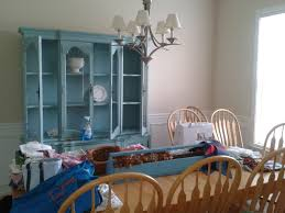 before and after the craigslist china cabinet goes blue campclem